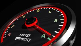 Energieeffizienzbewertung lizenzfreie abbildung
