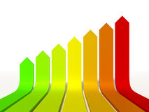 Energieeffizienzgraphik Lizenzfreies Stockbild