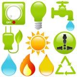 Energieeinsparung, Wasser, Elektrizität, s Lizenzfreie Stockfotos