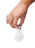 Energiefühler in der Mannhand Lizenzfreie Stockfotos