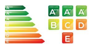 Energieffektivitet stock illustrationer