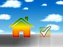 Energiehaus-Konzeptabbildung Stockbild