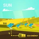 Energiekarikatur Lizenzfreie Stockbilder