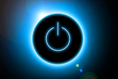 Energieknopf Lizenzfreie Stockfotografie