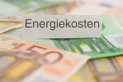 Energiekosten - Energy costs Royalty Free Stock Photo