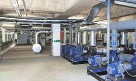 Energiekraftwerkspark für Einkaufszentrum, Fabrik und lebende Standorte Stockfoto