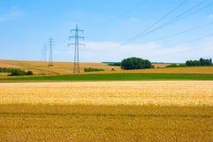 Energielandschap stock foto's