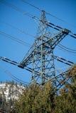 Energiemast einer Hochspannungsfernleitung Stockfotografie