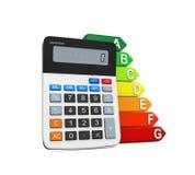 Energierendementclassificatie en Calculator vector illustratie