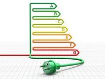 Energierendementconcept - 3D illustratie Stock Fotografie