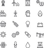 Energies icons. This is a collection of icons related with energies Stock Photo
