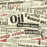 Energieschlagzeilen Stockfoto