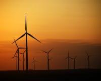 Energiesonnenuntergang stockfoto