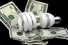 Energiesparende Glühlampe Stockbild