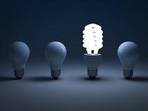 Energiesparende Glühlampe Eco Stockfoto