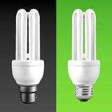 Energiesparende Glühlampen Stockfotos