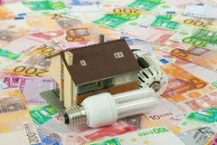 Energiesparende Kosten Stockbilder