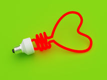 Energiesparende Lampe Stockfotos