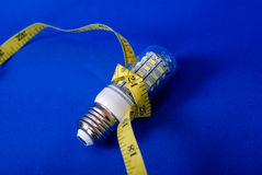 Energiesparende LED-Glühlampe Stockfoto