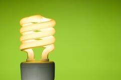 Energiesparende Leuchtstoff Glühlampe Stockfotografie