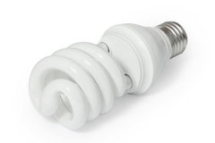 Energiesparende Leuchtstoff Glühlampe (CFL) Stockbild