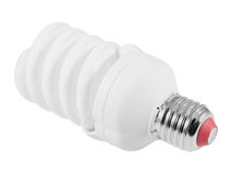 Energiesparende Leuchtstoff Glühlampe (CFL) Lizenzfreies Stockbild