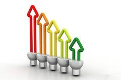 Energiesparendes Leuchtstoff Stockbild