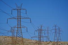 Energiestreifen und -Stromkabel Stockbilder