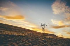 Energietoren op Gebied Stock Afbeelding