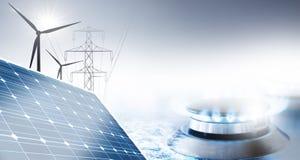 Energieversorgung stockfotos