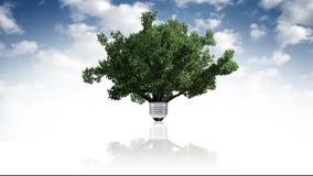 Energii odnawialnej pojęcie, zielony energetyczny symbol Obrazy Stock
