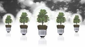 Energii odnawialnej pojęcie, zielony energetyczny symbol Zdjęcie Stock