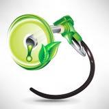 energii paliwa zielony target1787_0_ zbiornik Obraz Royalty Free