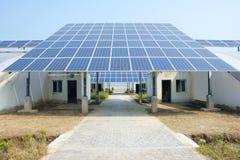 Energii słonecznej cieplarnia zdjęcia royalty free