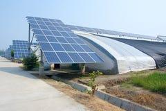 Energii słonecznej cieplarnia zdjęcie royalty free