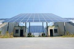 Energii słonecznej cieplarnia fotografia stock