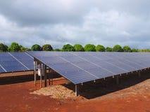 Energii Słonecznej gospodarstwo rolne obraz royalty free