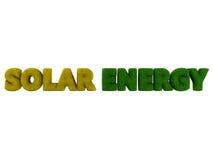 Energii Słonecznej trawy słowo Fotografia Stock