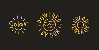 Energii słonecznych odznaki wektor 10 eps Fotografia Royalty Free