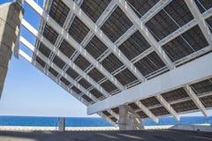 Energii Słonecznej stacja przy forum terenem w Barcelona Zdjęcia Royalty Free