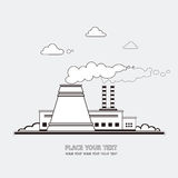 Energii stacja Elektrownia jądrowa na tle Obrazy Stock