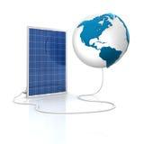 energii zieleni panelu odnawialny słoneczny royalty ilustracja
