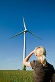 energii zielony turbina wiatr Zdjęcia Royalty Free