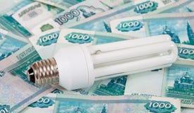 energilampsparande Fotografering för Bildbyråer