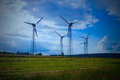 Energilantgård i Polen Arkivbilder
