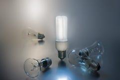 Energin-διάσωση της λάμπας φωτός Στοκ φωτογραφία με δικαίωμα ελεύθερης χρήσης