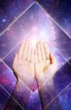energireikinegro spiritual Arkivbilder