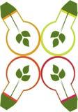Energisparare stock illustrationer