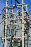 energiströmstation fotografering för bildbyråer