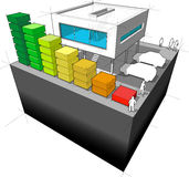 Energivärderingsdiagram Arkivfoton
